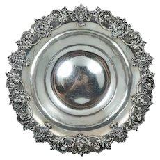 Large Kerr Sterling Greenman Cherub Dolphin Figural Silver Bowl Dish Centerpiece Art Nouveau Antique North Wind