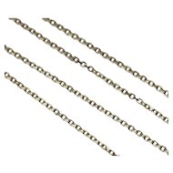 "18"" 14K Cable Link Chain Necklace 1.33 mm"