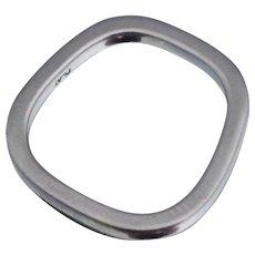 Stuart Moore Platinum Band Ring Sz 5.75