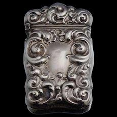 Art Nouveau Sterling Repousse Match Safe Matchsafe Case