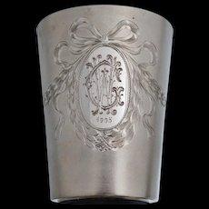 1905 830 Silver Presentation Gold Gilt Vermeil Cup Sterling German