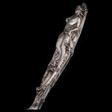 Art Nouveau Nude Woman Sterling Souvenir Spoon Arch Glen Falls New York Watson Mechanics