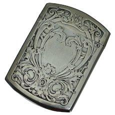 Blackinton Art Nouveau Sterling Match Safe Vesta Repousse 1803 Floral Arts Crafts