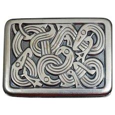 David Andersen Sterling Viking Sterling Snake Pin Norway Original Box