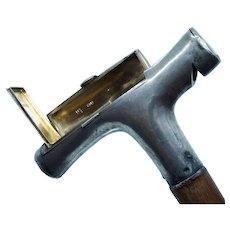 Victorian Sterling Gadget Cane Walking Stick Whistle Match Safe Jane Brownett Alexander Jones 1883 1884 Dated Presentation Whimsical