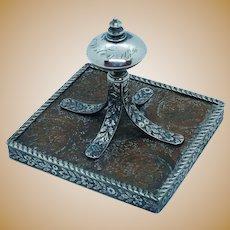 Sweden Copper Money Plate 813 Sterling Finnish Paperweight Desk Item 1724 1896 Silver Christmas Eve Turku