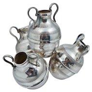 Egyptian 900 Silver Flower Bud Vase Urn Sterling Vintage Egypt Frog