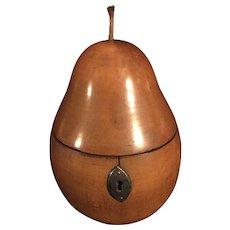 Early 19th Century Treen Pear Tea Caddy