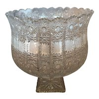 Large Antique American Brilliant Cut Glass Compote