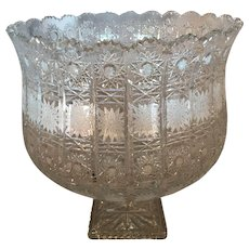 Large Antique American Brilliant Cut Glass Compote