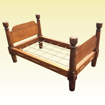 Miniature Doll Rope Bed