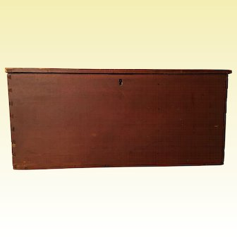 PA Dovetailed Document Box with Red Paint