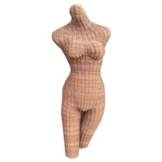Vintage Wicker Female Form Mannequin