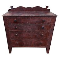 New York Paint Decorated Chest  of Drawers