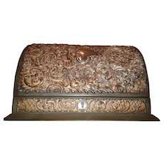 William Comyns Sons Leather and Sterling Letter Box - C.1889 **SUPERB**