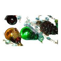 Vintage Murano Glass Fruit Ceiling Pendant Light