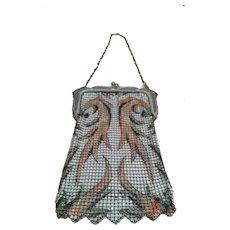 Antique Whiting & Davis Art Deco Flapper Handbag c. 1920s