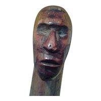Folk Art Hand Carved Walking Stick c. 1900 Southern USA