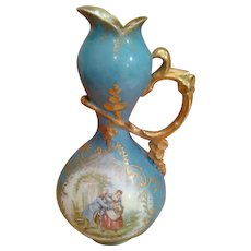 Sevres Style Victorian Themed Pitcher
