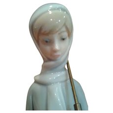 "Lladro Vintage ""Girl With Ducks And Umbrella"" 1969"