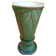 Mid Century Green Drip Vase
