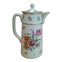 RK Dresden Floral Porcelain Coffee / Tea Pot