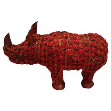 19th Century Cloisonne Rhino