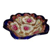 Vintage Moriage Floral Serving Bowl