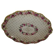 Nippon Hand Painted 'Roses' Accent / Display Tray