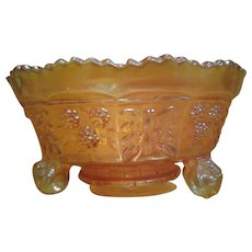 Vintage Marigold Carnival Glass Fenton Candy Dish