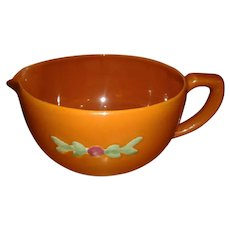 "Coors Pottery ""Rosebud"" Orange Batter Pitcher MADE IS USA"