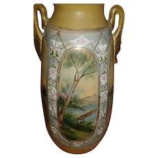 Moriage Style Tall Vase