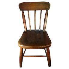 19th Century Plank Bottom Miniature Chair