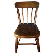 19th Century Plank Bottom Miniature Chair
