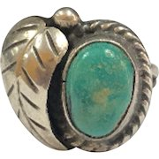 Vintage Native American Sterling Silver Turquoise Women's  Ring