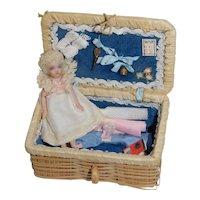 All Bisque Doll by Cathy Hansen 3 inch