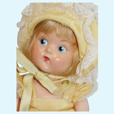 Vogue Ginny w/ painted eyes 1950 #8-12 D Easter Doll