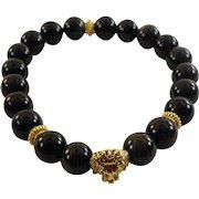JFTS Golden Sheen Obsidian Men's Stretch Bracelet