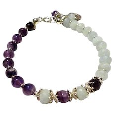 JFTS Amethyst & Aquamarine Bracelet
