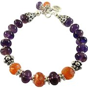 JFTS African Amethyst & African Sunstone Bracelet