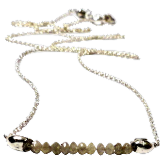 JFTS' Natural Gray Diamond Bead Necklace