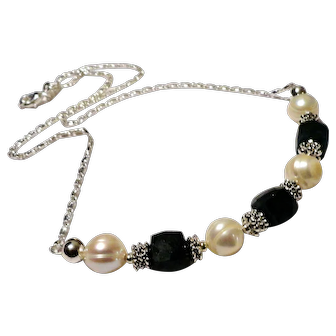 JFTS' (XMAS SPECIAL!!!) Emerald & Cultured FW Pearl Necklace, Bracelet &  Earrings Set