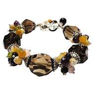JFTS' Smoky Quartz & Multi Gemstone Bracelet
