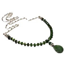 JFTS' Chrome Diopside & Emerald Necklace