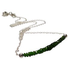 JFTS' 925 Sterling Silver Chrome Diopside Necklace