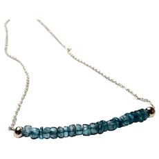 JFTS 925 Sterling Silver Apatite Necklace