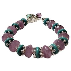 JFTS' Light Amethyst and Turquoise Bracelet
