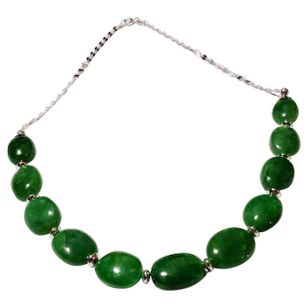 JFTS' Brazilian Emerald 925 Sterling Silver Necklace