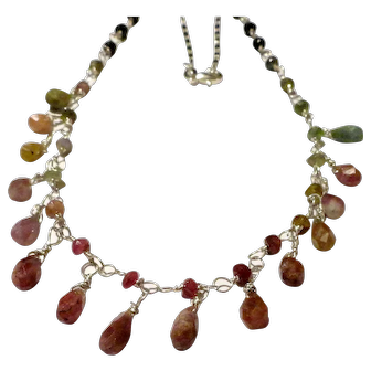 JFTS' Watermelon Tourmaline Bead Necklace