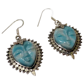 JFTS' Dominican Republic Larimar Goddess Earrings